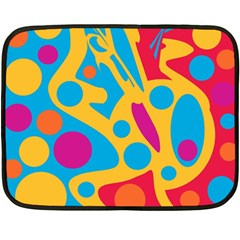 Colorful Decor Double Sided Fleece Blanket (mini)  by Valentinaart