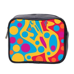Colorful Decor Mini Toiletries Bag 2 Side by Valentinaart