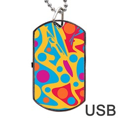 Colorful Decor Dog Tag Usb Flash (two Sides)  by Valentinaart