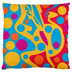 Colorful Decor Large Cushion Case (one Side) by Valentinaart