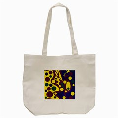 Deep Blue And Yellow Decor Tote Bag (cream) by Valentinaart