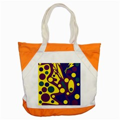 Deep Blue And Yellow Decor Accent Tote Bag by Valentinaart