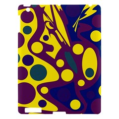 Deep Blue And Yellow Decor Apple Ipad 3/4 Hardshell Case by Valentinaart