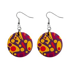 Colorful Chaos Mini Button Earrings by Valentinaart
