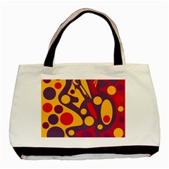 Colorful Chaos Basic Tote Bag (two Sides) by Valentinaart