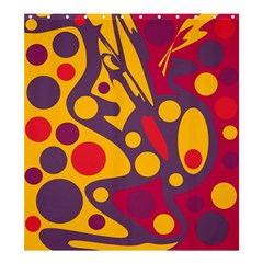 Colorful Chaos Shower Curtain 66  X 72  (large)  by Valentinaart