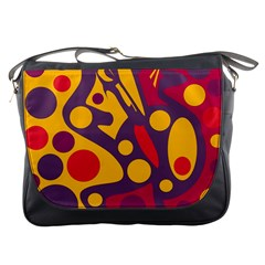 Colorful Chaos Messenger Bags by Valentinaart