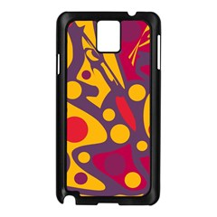 Colorful Chaos Samsung Galaxy Note 3 N9005 Case (black) by Valentinaart