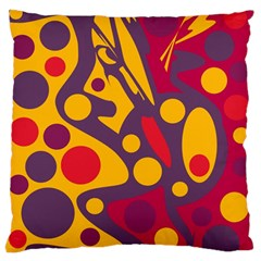 Colorful Chaos Large Flano Cushion Case (one Side) by Valentinaart