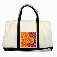 Orange And Blue Decor Two Tone Tote Bag by Valentinaart