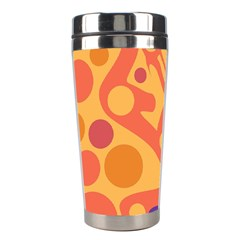 Orange And Blue Decor Stainless Steel Travel Tumblers by Valentinaart