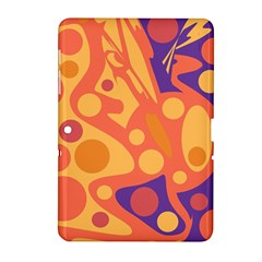 Orange And Blue Decor Samsung Galaxy Tab 2 (10 1 ) P5100 Hardshell Case  by Valentinaart