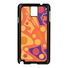 Orange And Blue Decor Samsung Galaxy Note 3 N9005 Case (black) by Valentinaart