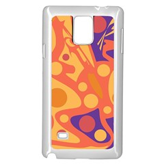 Orange And Blue Decor Samsung Galaxy Note 4 Case (white) by Valentinaart