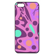 Purple And Green Decor Apple Iphone 5 Seamless Case (black)