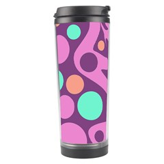 Purple And Green Decor Travel Tumbler