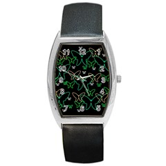Green Butterflies Barrel Style Metal Watch by Valentinaart