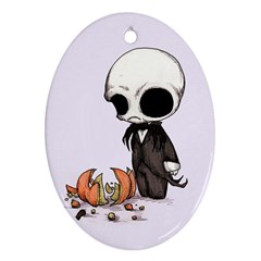 Smashing Pumpkin King  Oval Ornament (two Sides) by lvbart
