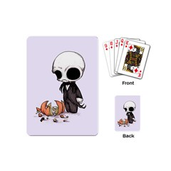 Smashing Pumpkin King  Playing Cards (mini)  by lvbart