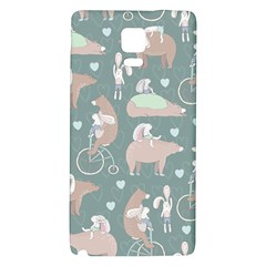 Bear Ruding Unicycle Unique Pop Art All Over Print Galaxy Note 4 Back Case