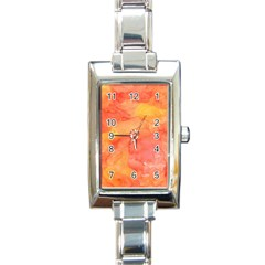 Watercolor Yellow Fall Autumn Real Paint Texture Artists Rectangle Italian Charm Watch