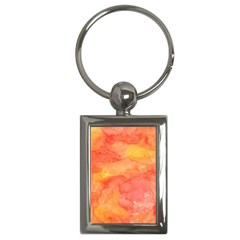 Watercolor Yellow Fall Autumn Real Paint Texture Artists Key Chains (rectangle)