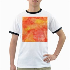 Watercolor Yellow Fall Autumn Real Paint Texture Artists Ringer T Shirts