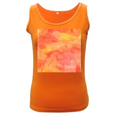 Watercolor Yellow Fall Autumn Real Paint Texture Artists Women s Dark Tank Top