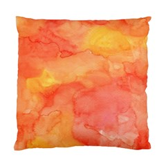 Watercolor Yellow Fall Autumn Real Paint Texture Artists Standard Cushion Case (one Side) by CraftyLittleNodes