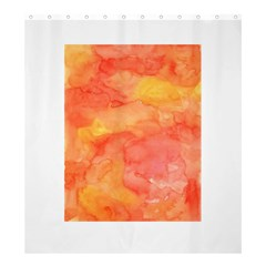 Watercolor Yellow Fall Autumn Real Paint Texture Artists Shower Curtain 66  X 72  (large)
