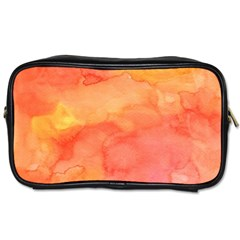 Watercolor Yellow Fall Autumn Real Paint Texture Artists Toiletries Bags