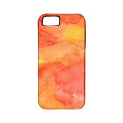 Watercolor Yellow Fall Autumn Real Paint Texture Artists Apple Iphone 5 Classic Hardshell Case (pc+silicone)