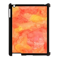 Watercolor Yellow Fall Autumn Real Paint Texture Artists Apple Ipad 3/4 Case (black) by CraftyLittleNodes