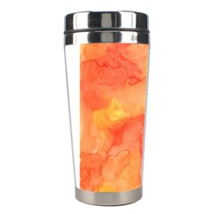 Watercolor Yellow Fall Autumn Real Paint Texture Artists Stainless Steel Travel Tumblers