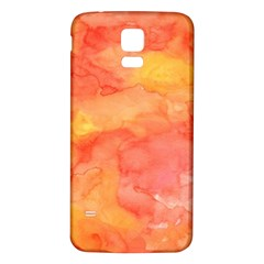 Watercolor Yellow Fall Autumn Real Paint Texture Artists Samsung Galaxy S5 Back Case (white) by CraftyLittleNodes