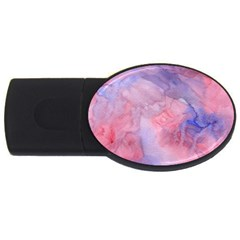 Galaxy Cotton Candy Pink And Blue Watercolor  Usb Flash Drive Oval (4 Gb)