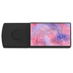 Galaxy Cotton Candy Pink And Blue Watercolor  Usb Flash Drive Rectangular (4 Gb)