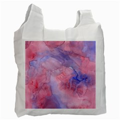 Galaxy Cotton Candy Pink And Blue Watercolor  Recycle Bag (one Side)