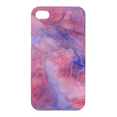 Galaxy Cotton Candy Pink And Blue Watercolor  Apple Iphone 4/4s Hardshell Case