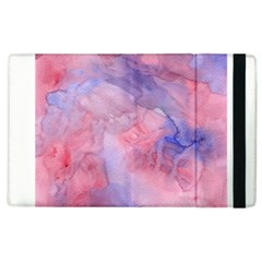 Galaxy Cotton Candy Pink And Blue Watercolor  Apple Ipad 2 Flip Case by CraftyLittleNodes