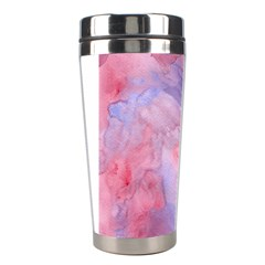 Galaxy Cotton Candy Pink And Blue Watercolor  Stainless Steel Travel Tumblers