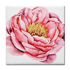 Large Flower Floral Pink Girly Graphic Tile Coasters