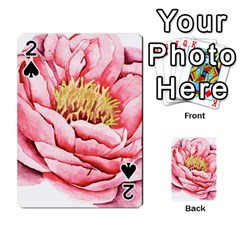 Large Flower Floral Pink Girly Graphic Playing Cards 54 Designs