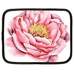 Large Flower Floral Pink Girly Graphic Netbook Case (large) by CraftyLittleNodes
