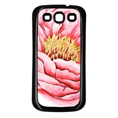 Large Flower Floral Pink Girly Graphic Samsung Galaxy S3 Back Case (black) by CraftyLittleNodes