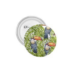 Tropical Print Leaves Birds Toucans Toucan Large Print 1 75  Buttons