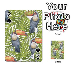 Tropical Print Leaves Birds Toucans Toucan Large Print Playing Cards 54 Designs  by CraftyLittleNodes