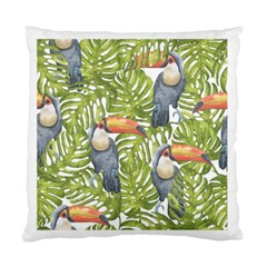 Tropical Print Leaves Birds Toucans Toucan Large Print Standard Cushion Case (two Sides) by CraftyLittleNodes