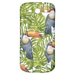 Tropical Print Leaves Birds Toucans Toucan Large Print Samsung Galaxy S3 S Iii Classic Hardshell Back Case