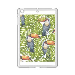 Tropical Print Leaves Birds Toucans Toucan Large Print Ipad Mini 2 Enamel Coated Cases by CraftyLittleNodes